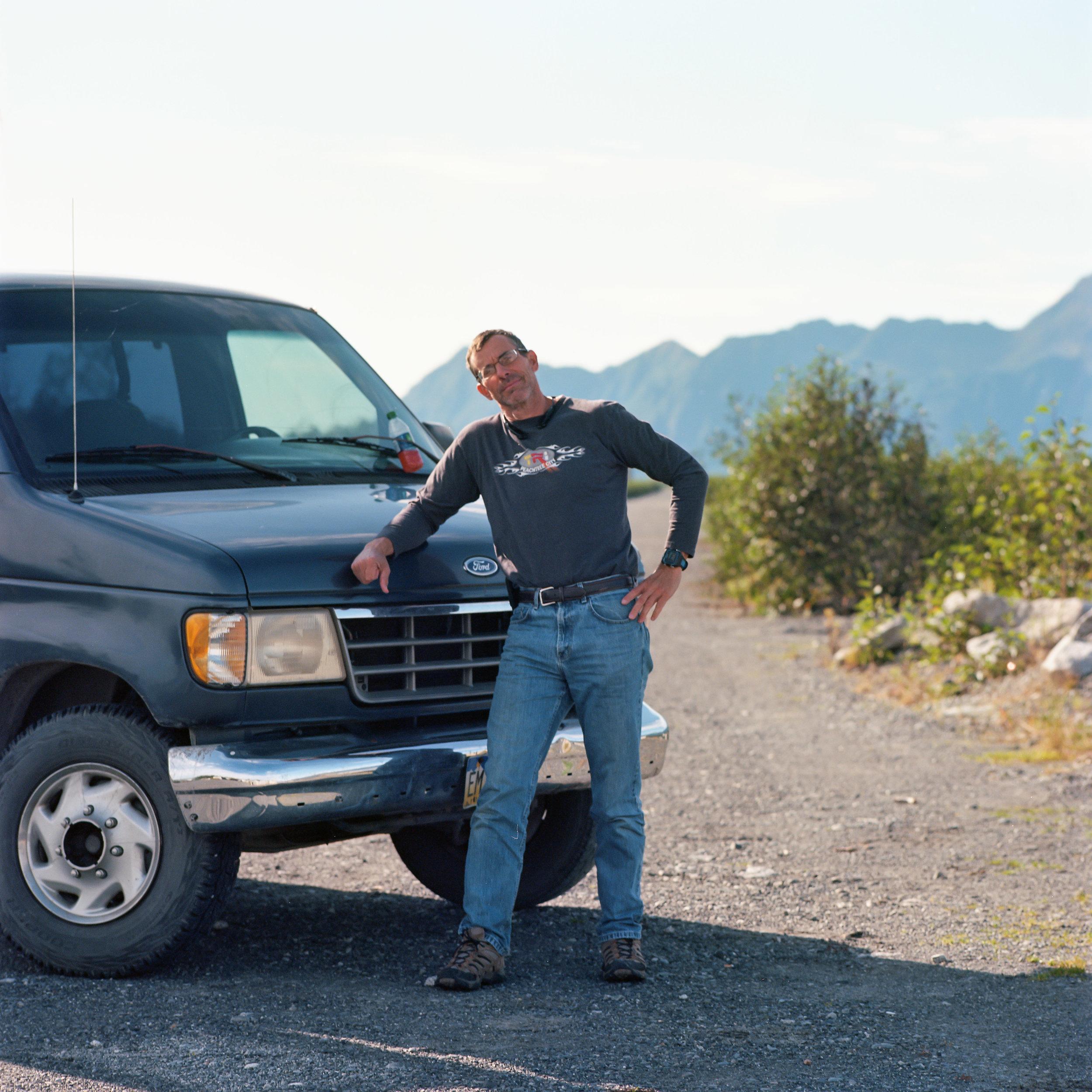 Dad at the end of the road Hasselblad 501cm   Kodak Ektar