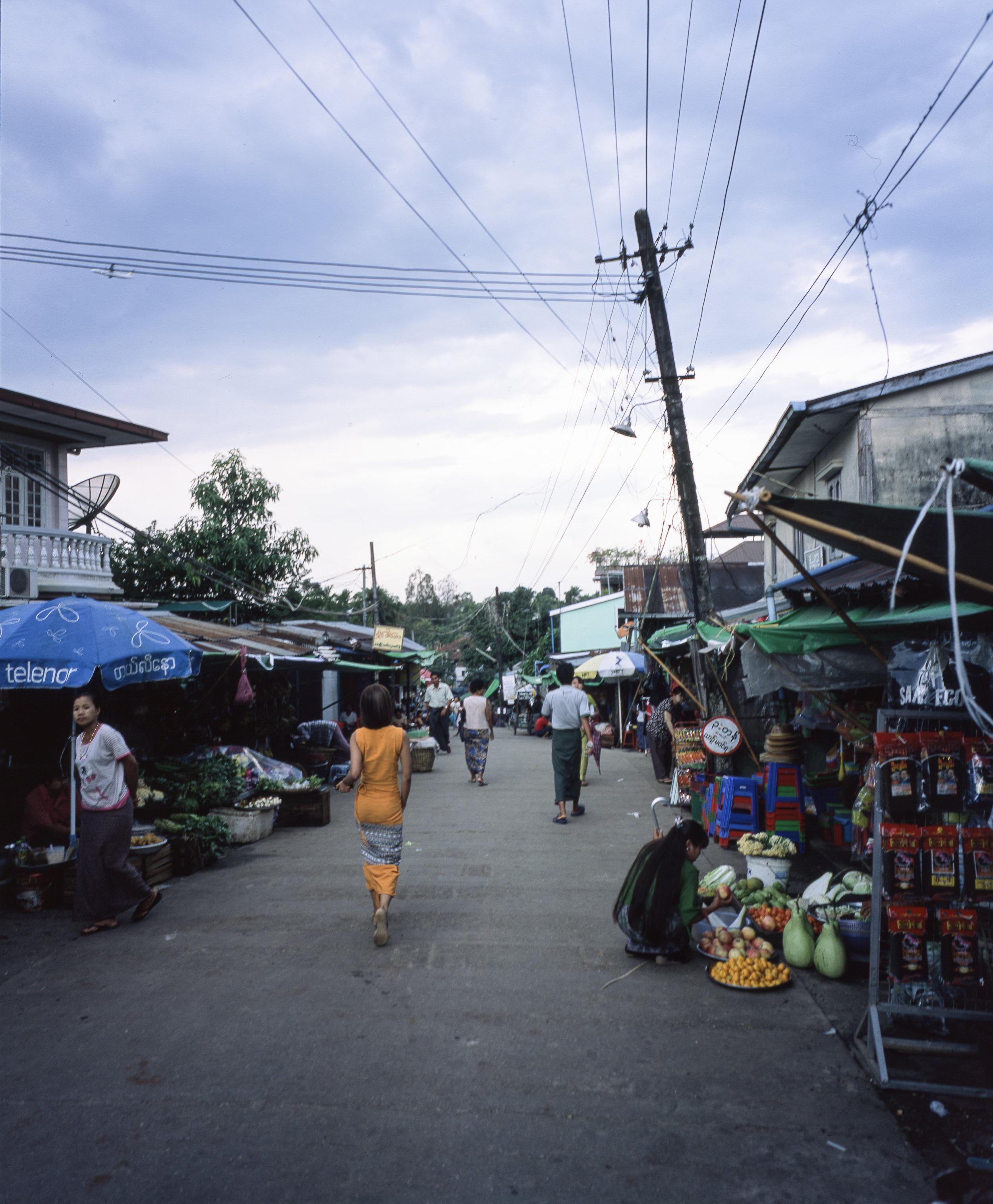 Yangon Market Fuji GF670w | Fuji Provia 100f