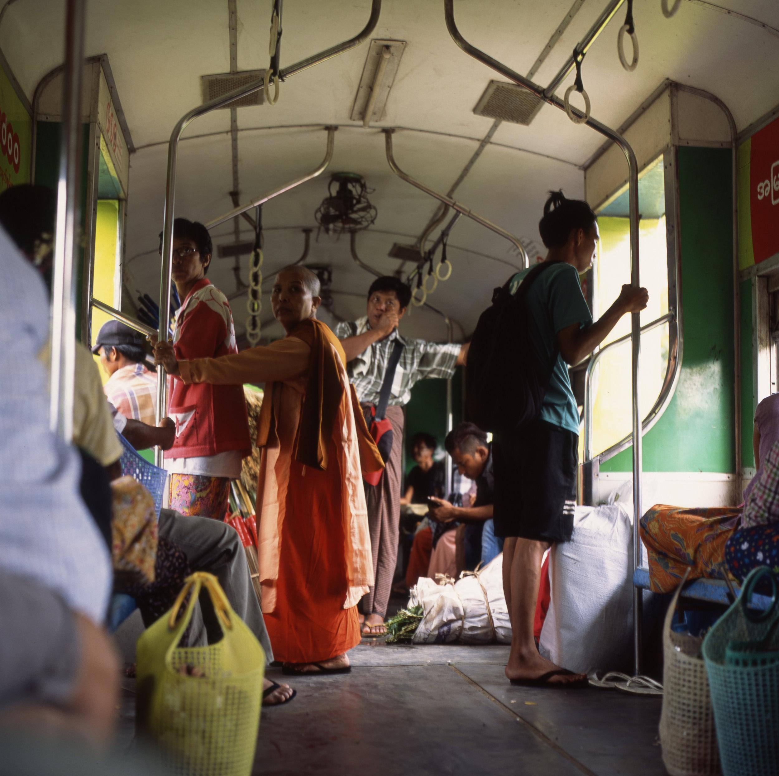 Yangon Circle Line Train Hasselblad 501cm | Fuji Provia 100f