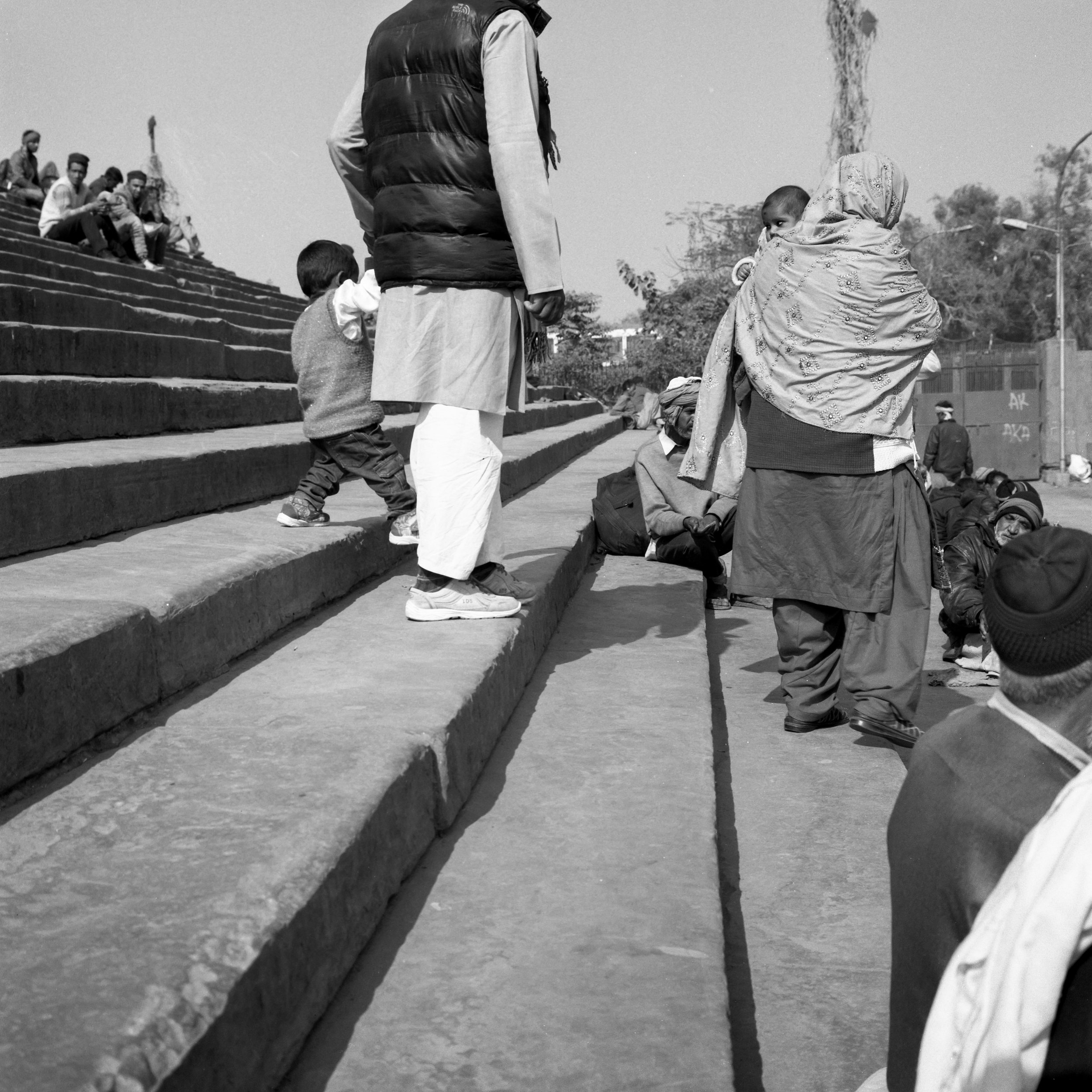 Jamal Masjid Steps Rolleiflex 2.8D | Ilford HP5