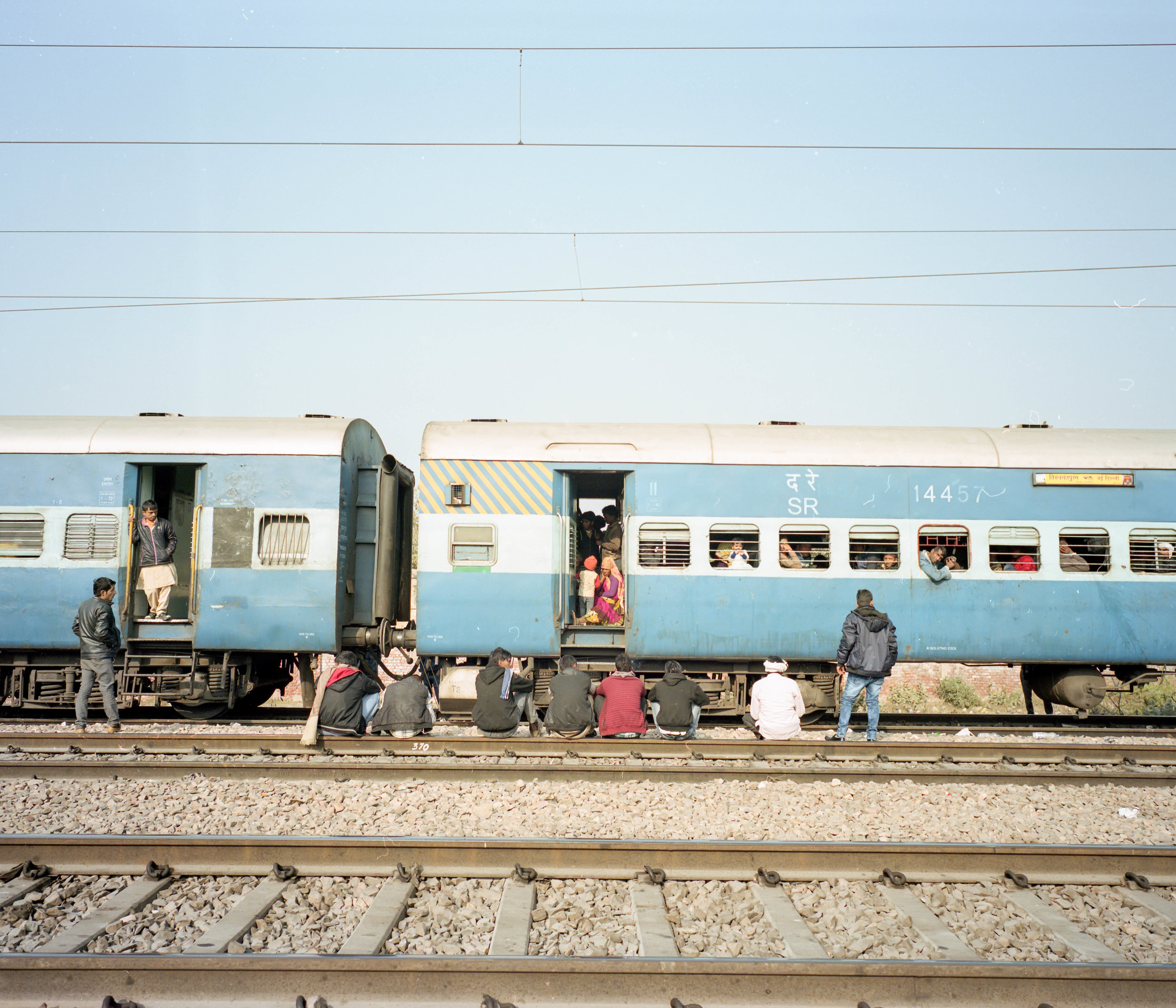 The Waiting Game Fuji GF670w | Kodak Portra 400