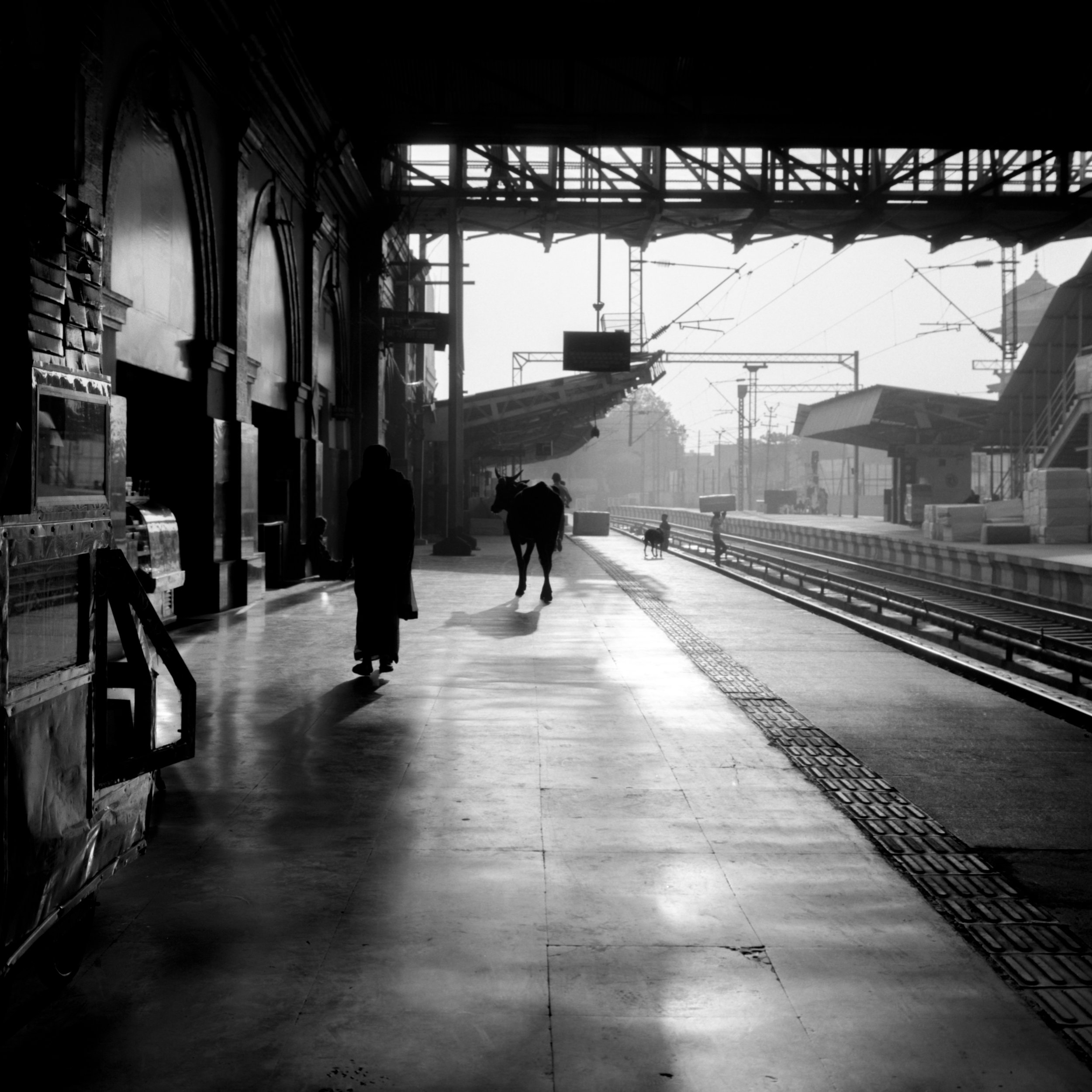 My train isn't here yet Rolleiflex 2.8D | Ilford HP5