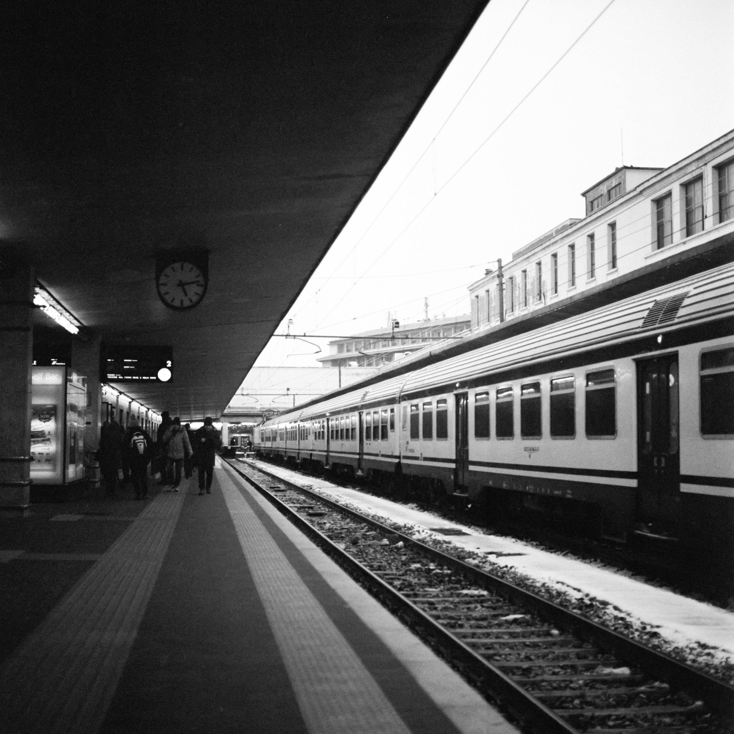 Train to Pisa Hasselblad 501c | Bergger Pancro 400