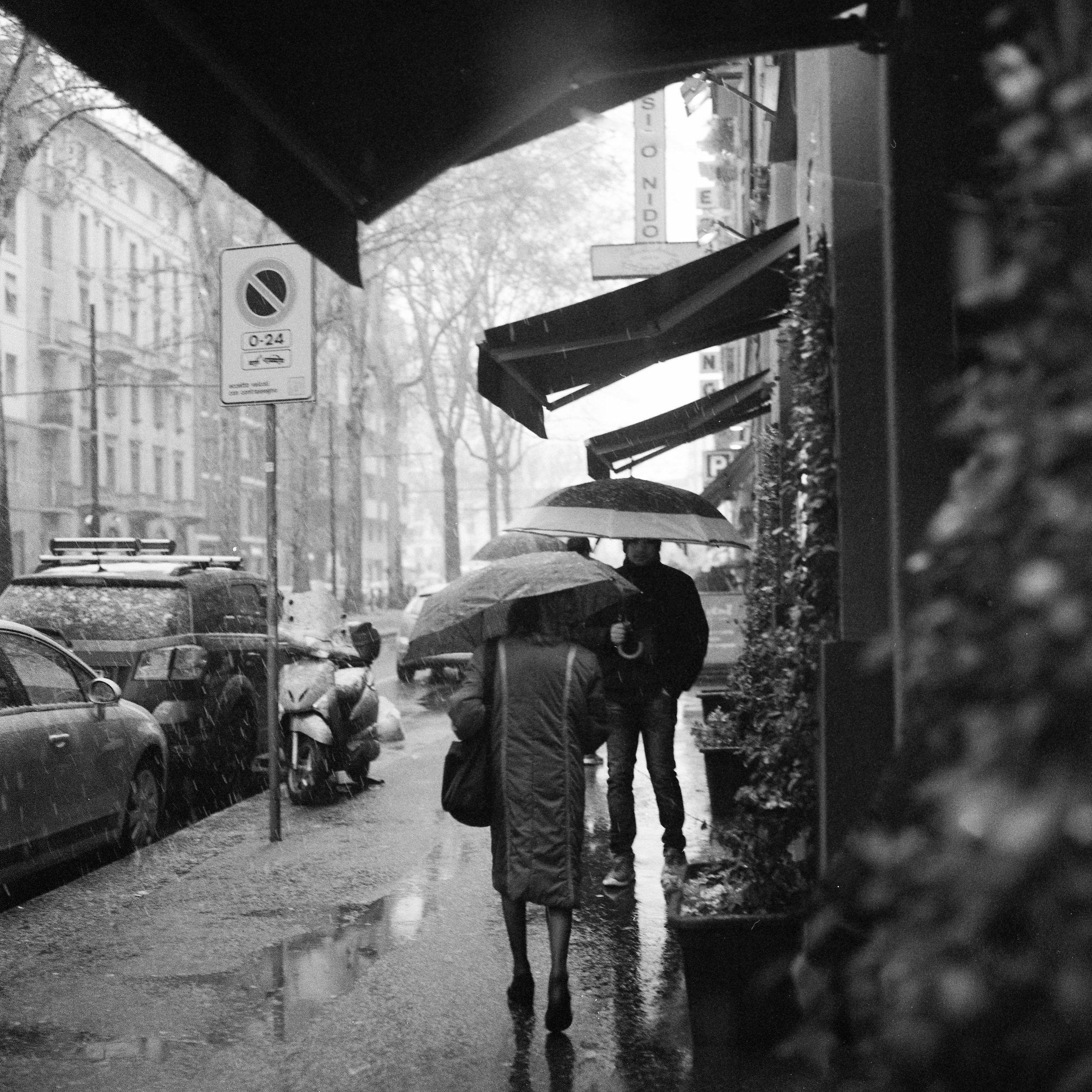 Snow in Milan Hasselblad 501c | Bergger Pancro 400