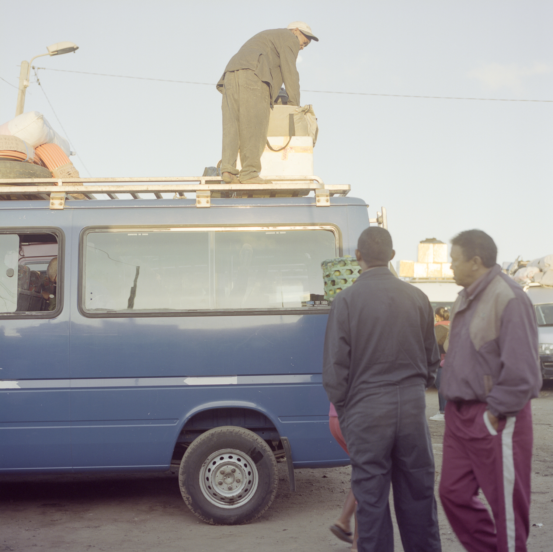 Loading up our mini-bus Hasselblad 501c | Kodak Portra 400