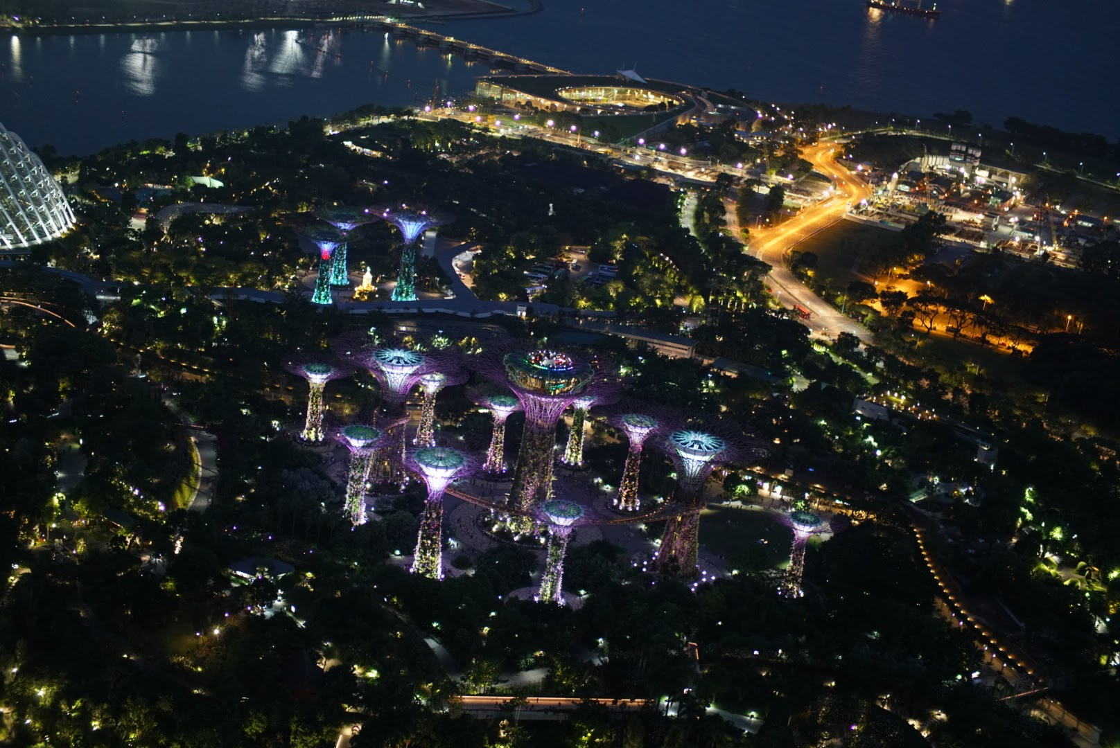 View from Sky57 - aerial view of the Gardens