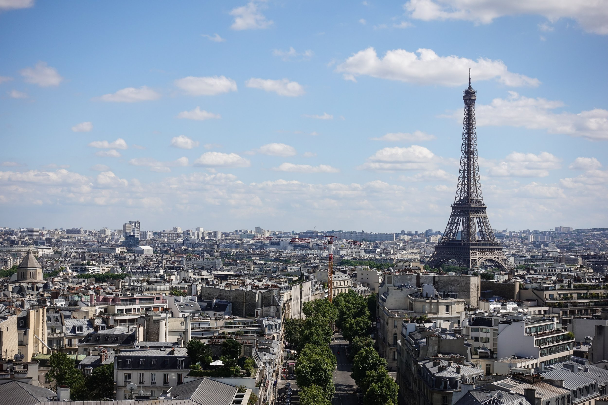 Stunning views from the top of the Arc de Triomphe