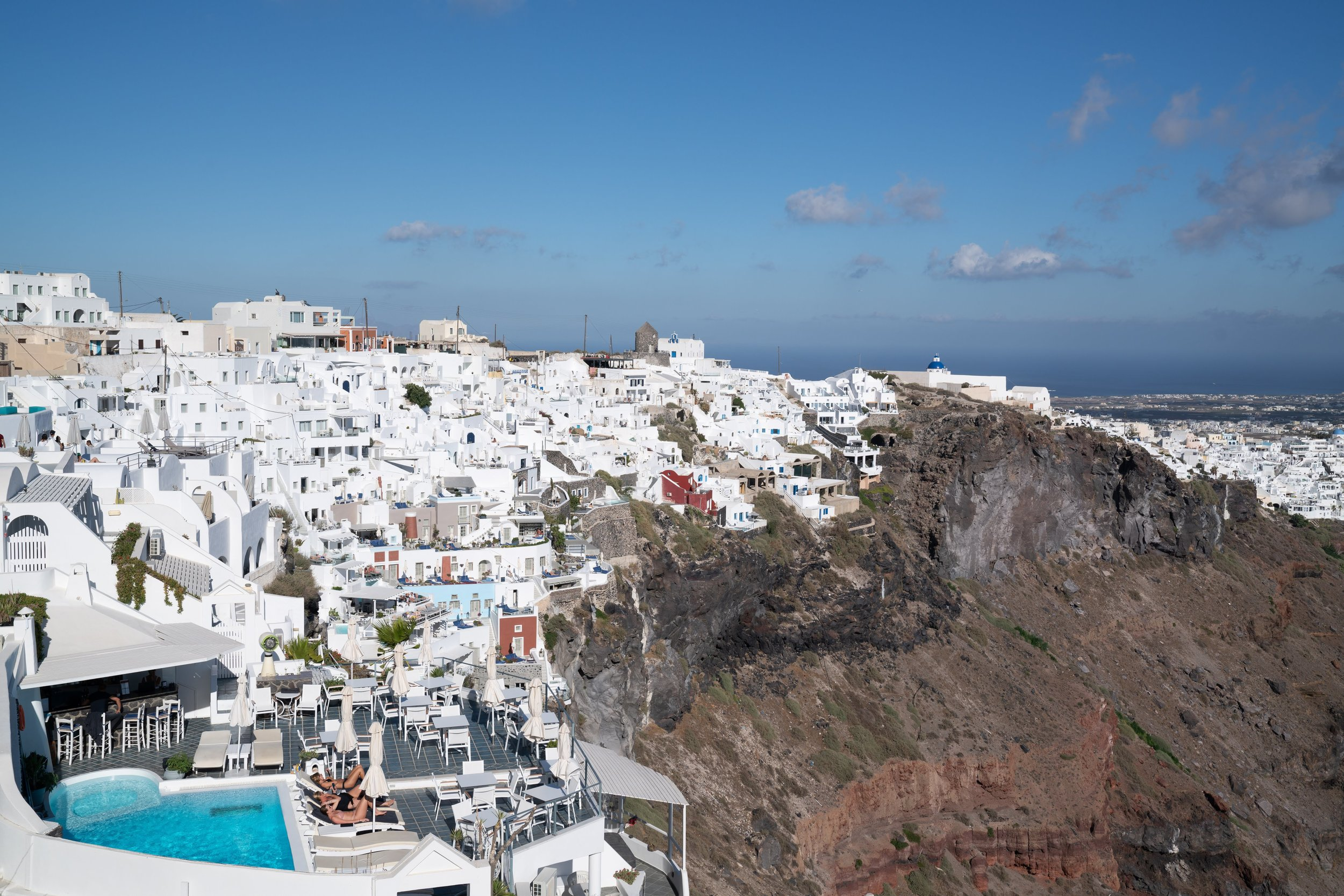 More beautiful views on our walk in Thira