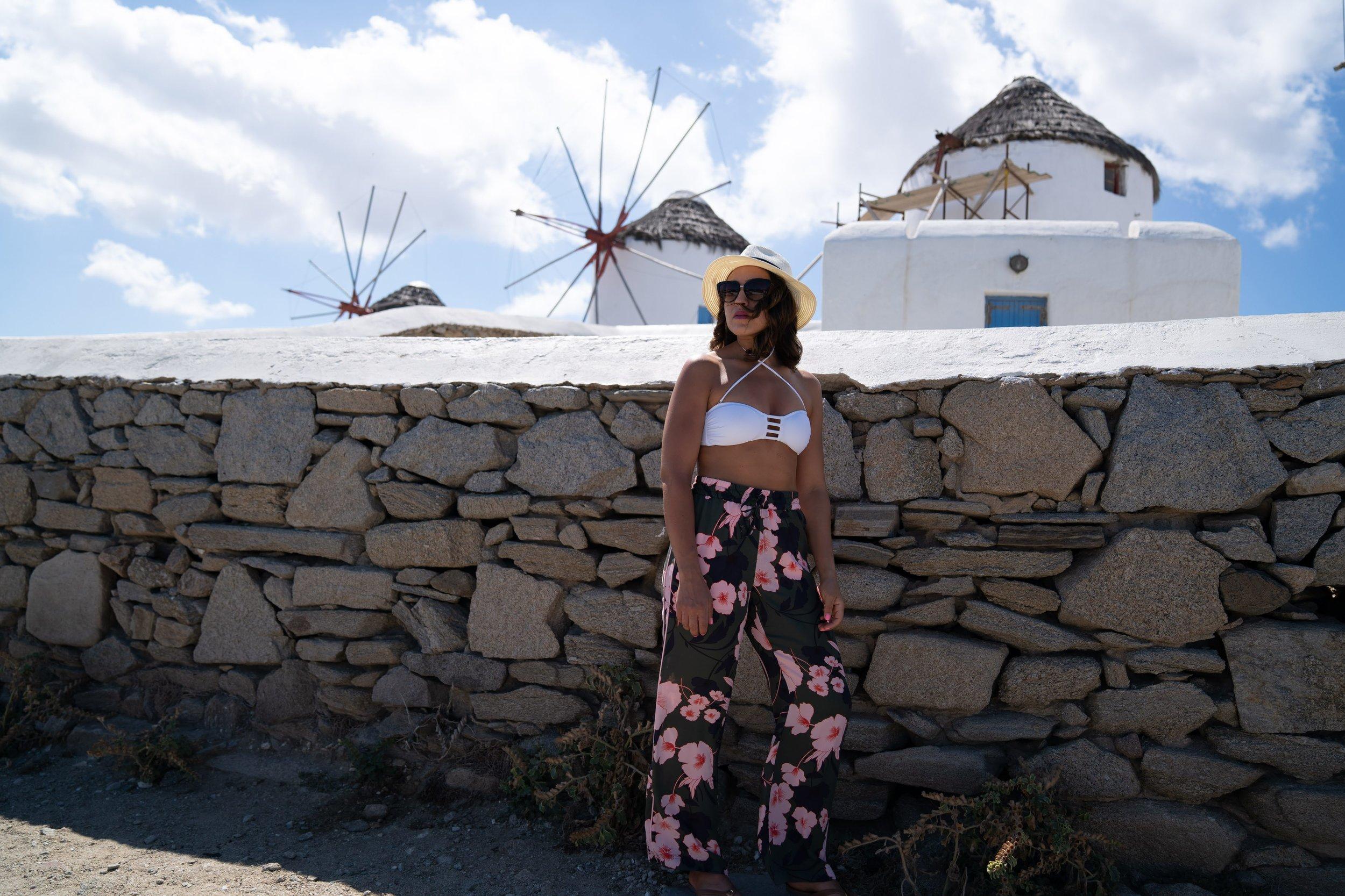 Pants: Macys // Bikini Top: older one linked similar  here  //  Hat : Nordstrom Rack //  Sunglasses : Kate Spade