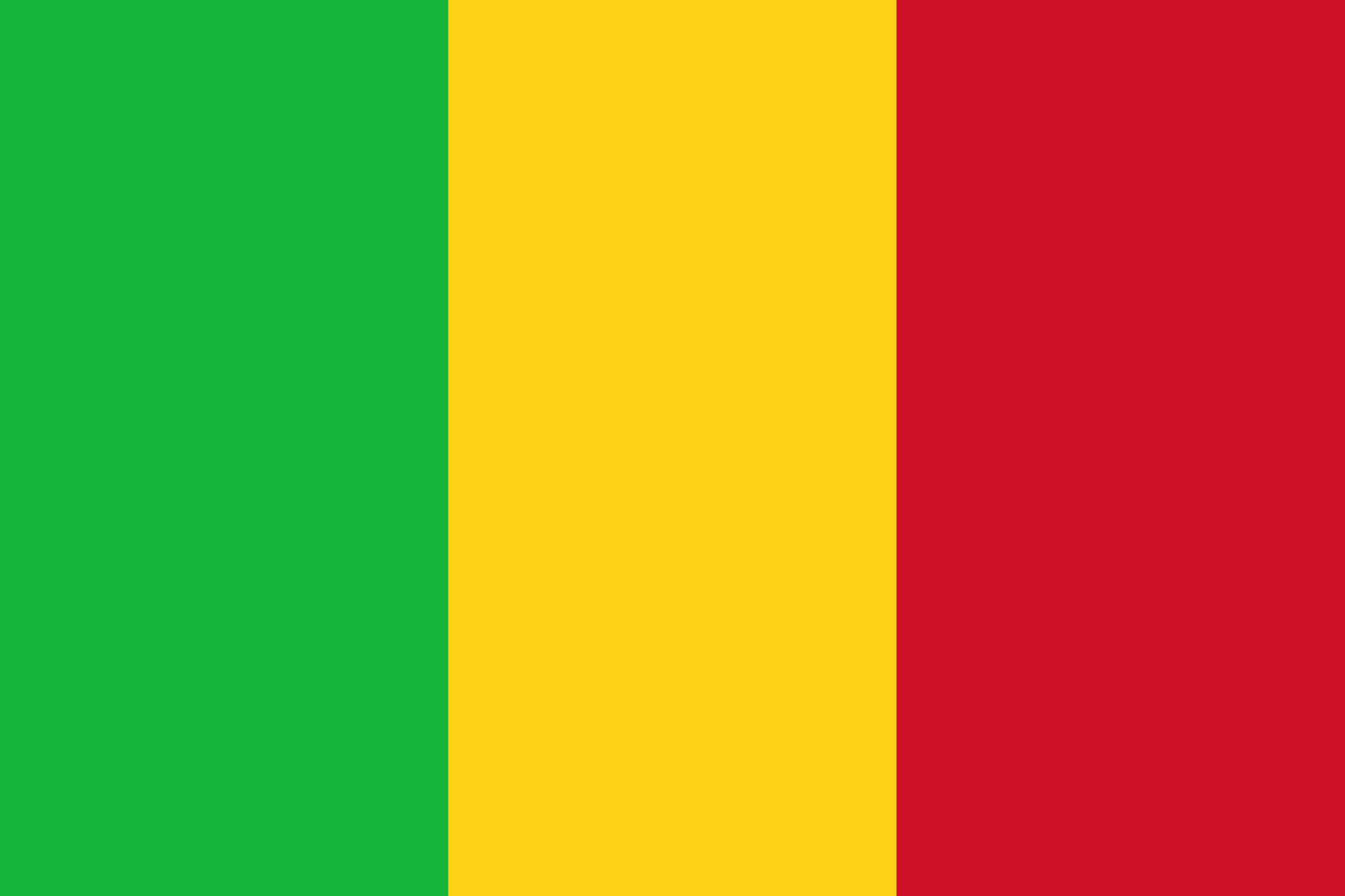 Flag of Mali, Africa