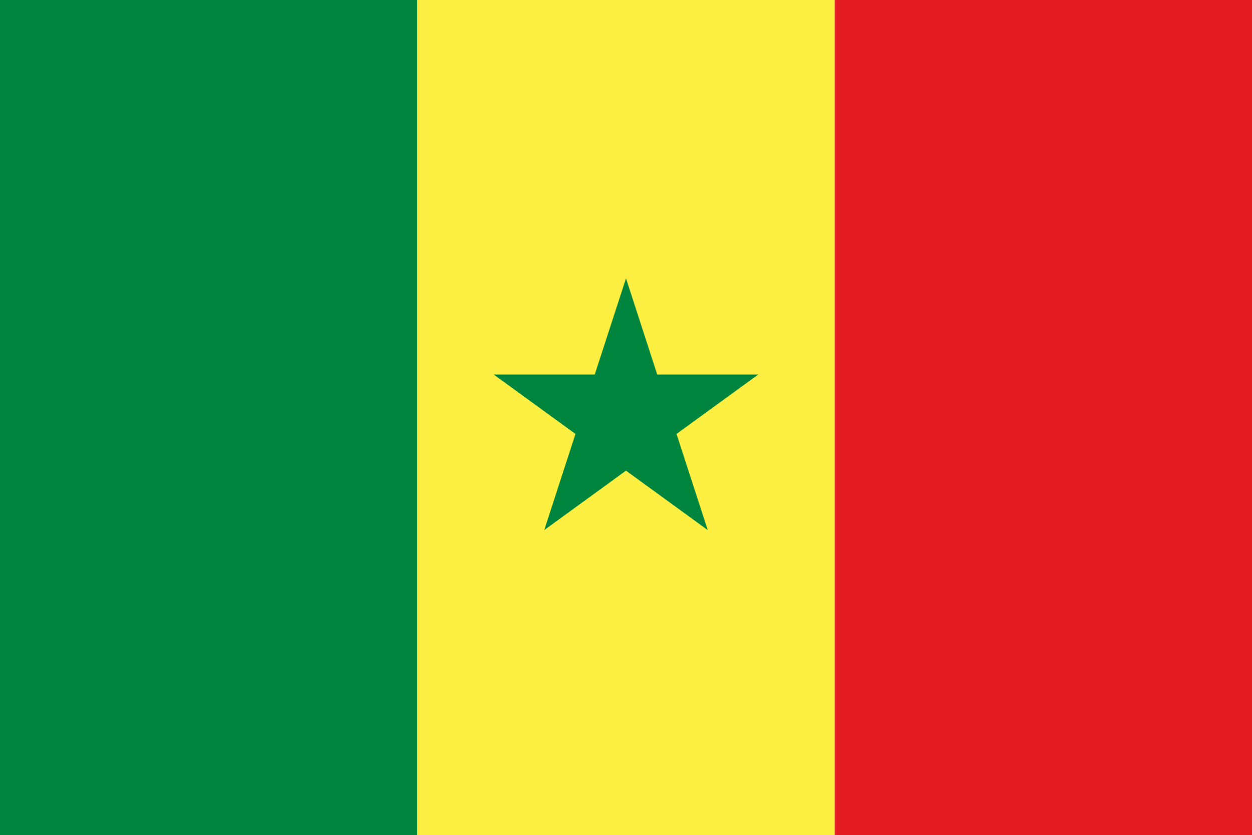 Flag of Senegal, Africa
