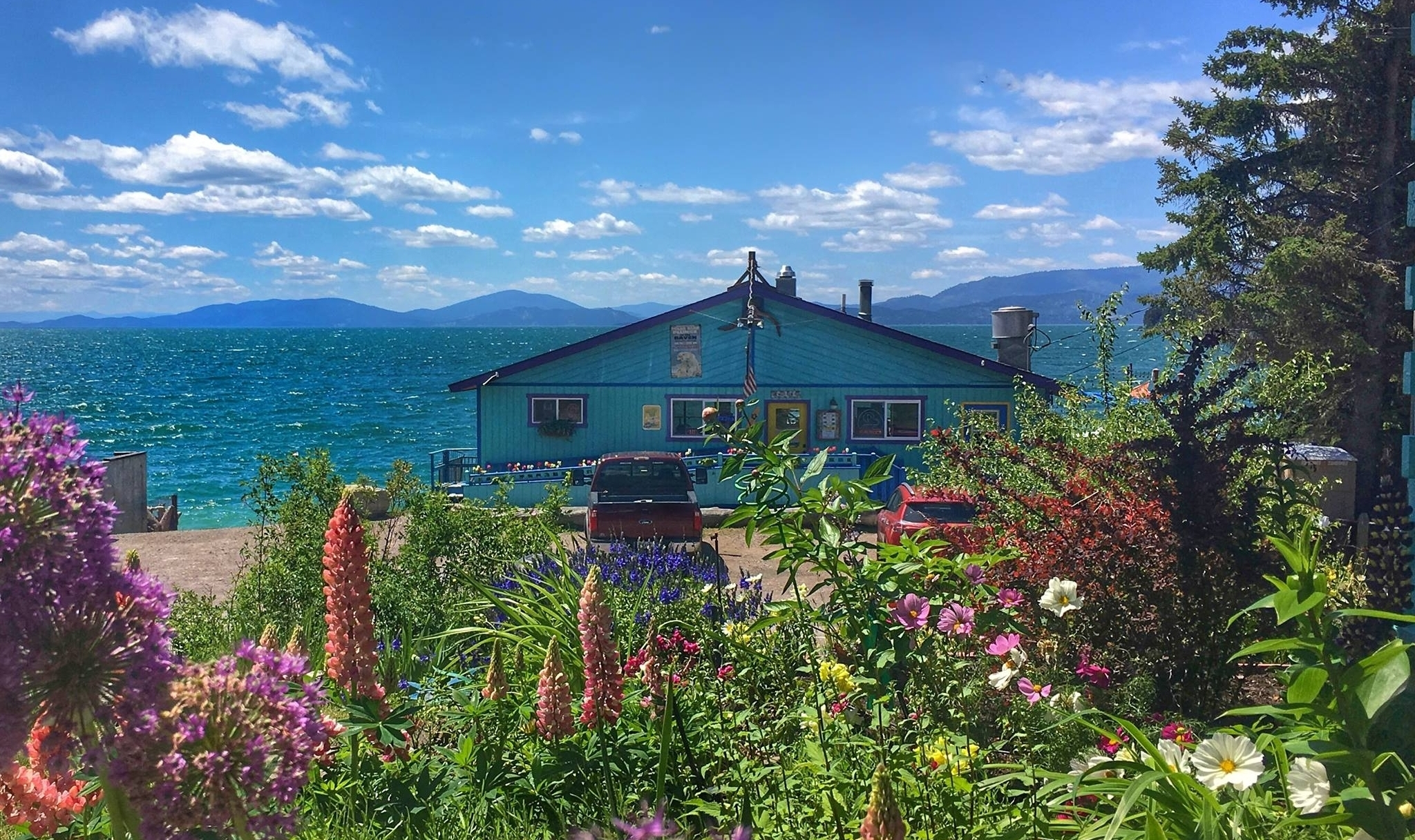 tHE VIEW AT cHECK-IN - fLATHEAD LAKE, wOODS bAY mONTANA