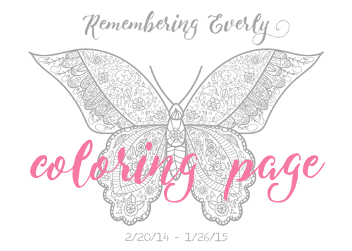 Remembering Everly coloring page