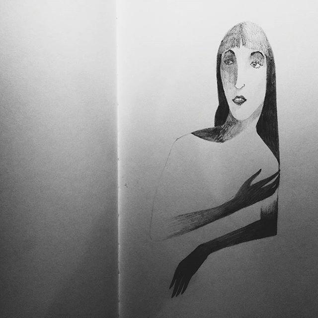Oh, Olive. #illustration #blackandwhite #sketchbook #pencil