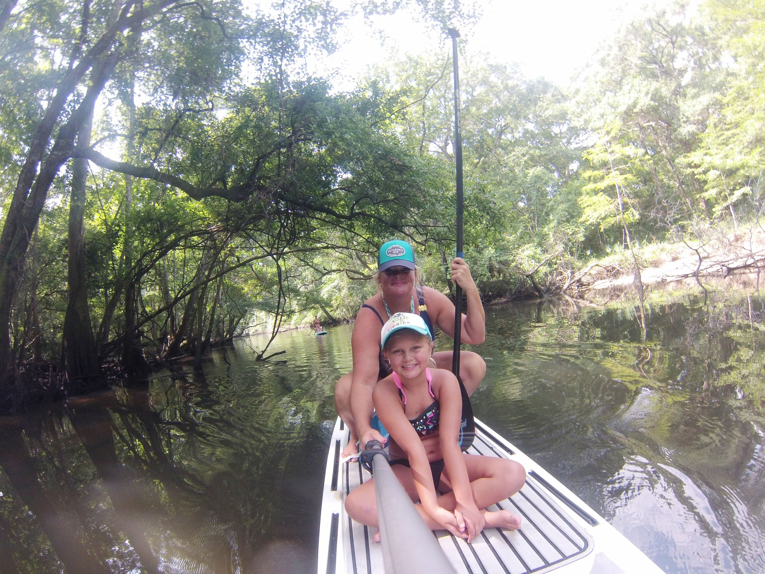 Paddling the fresh water springs just north of where we live in Panama City