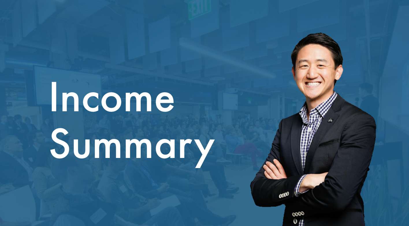 Income Summary - Last Month: $0This Month: $4,500Last 12 Months: $17,502.99