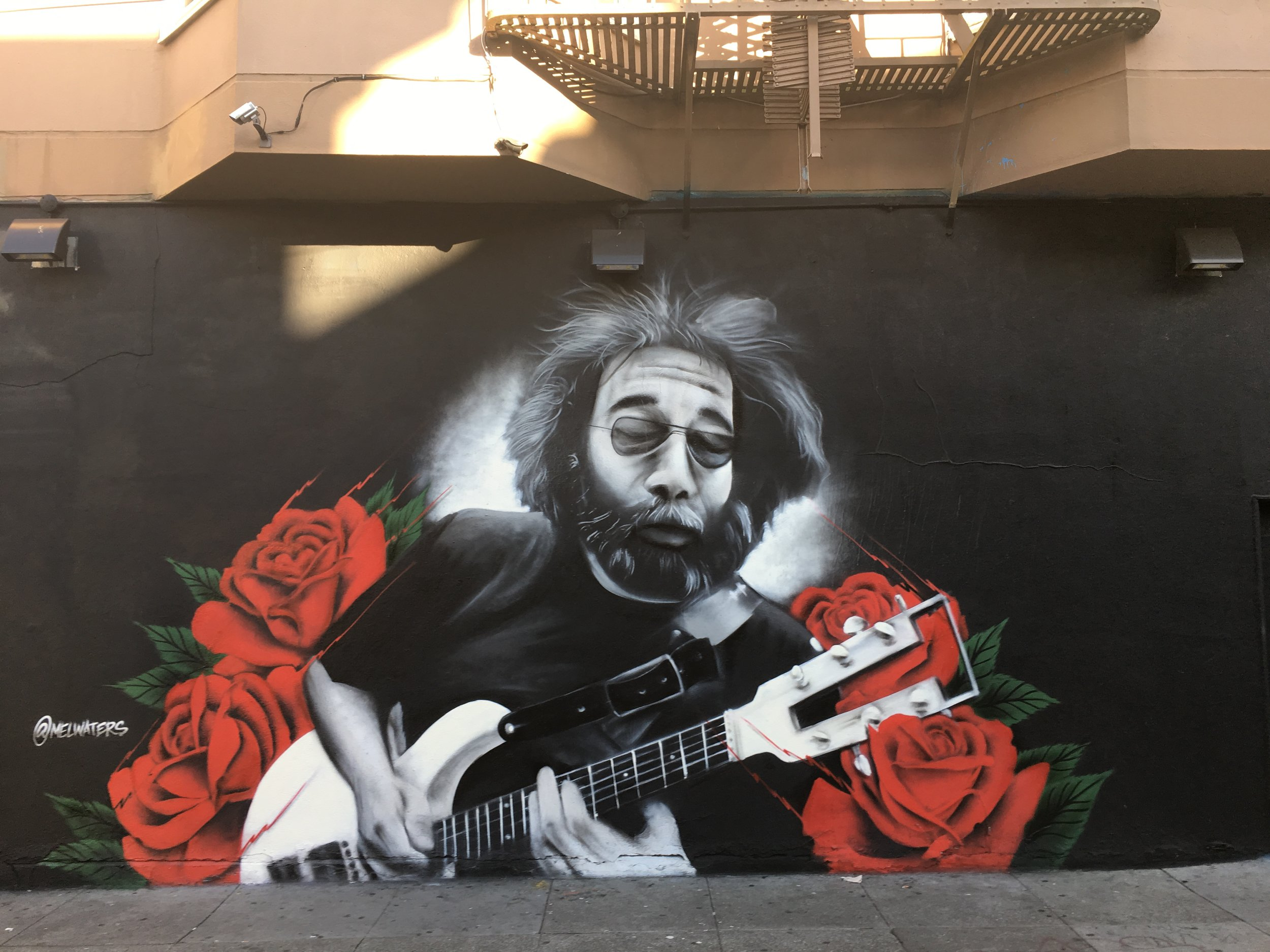 Jerry Garcia - Cole Street at Haight Street, 2016.