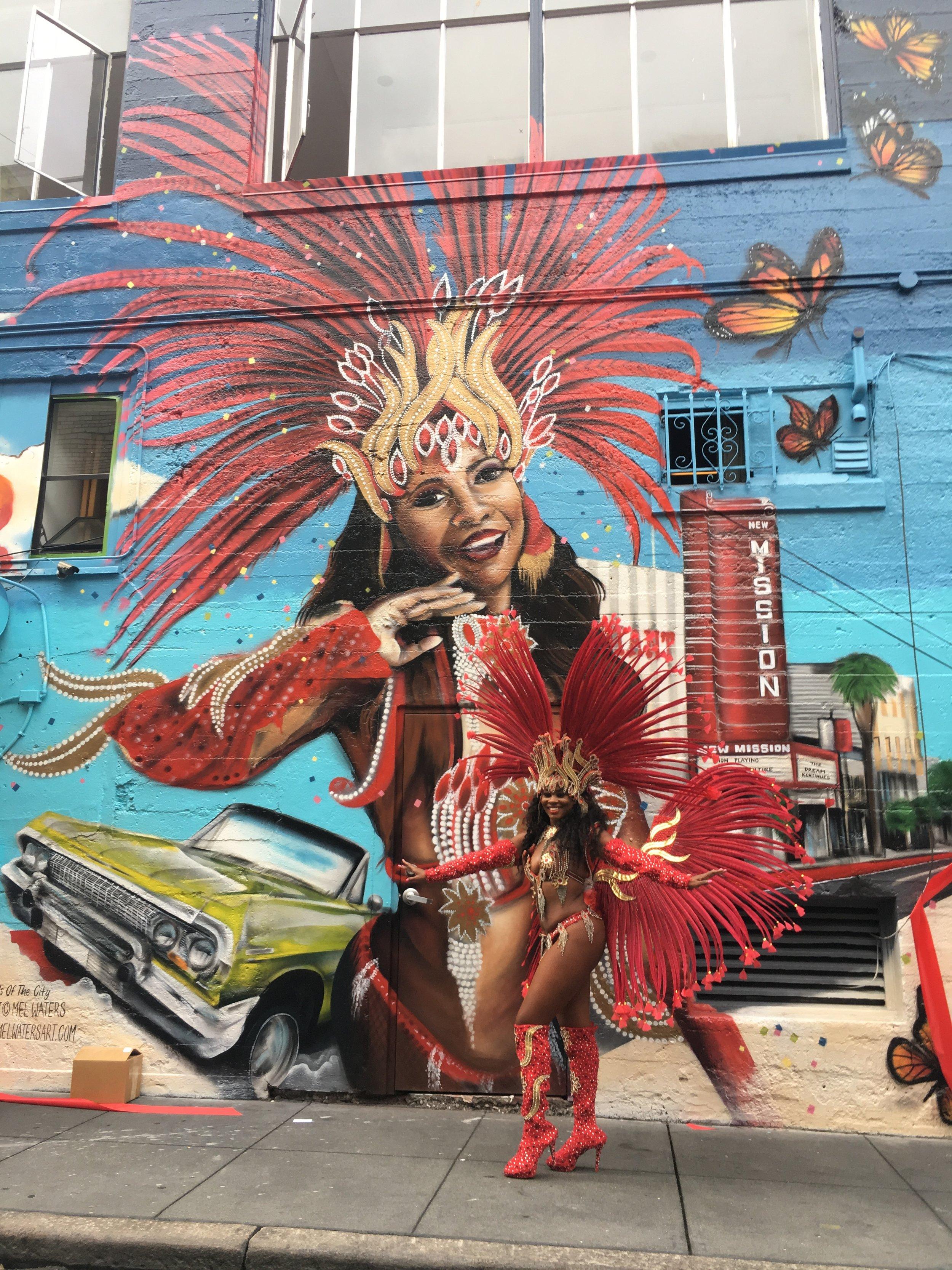 Hemlock Alley Mural Project - Hemlock Alley between Polk and Larkin Streets, 2017.