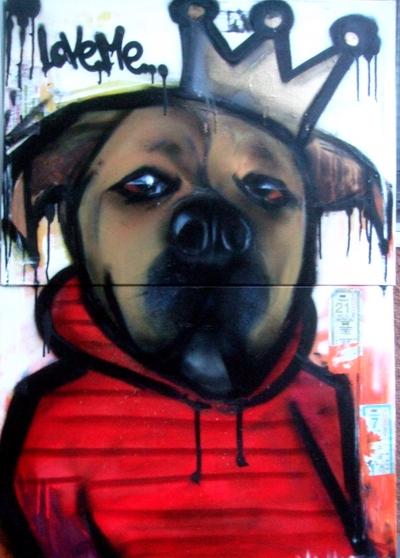 Max - 2007 spray paint on canvas