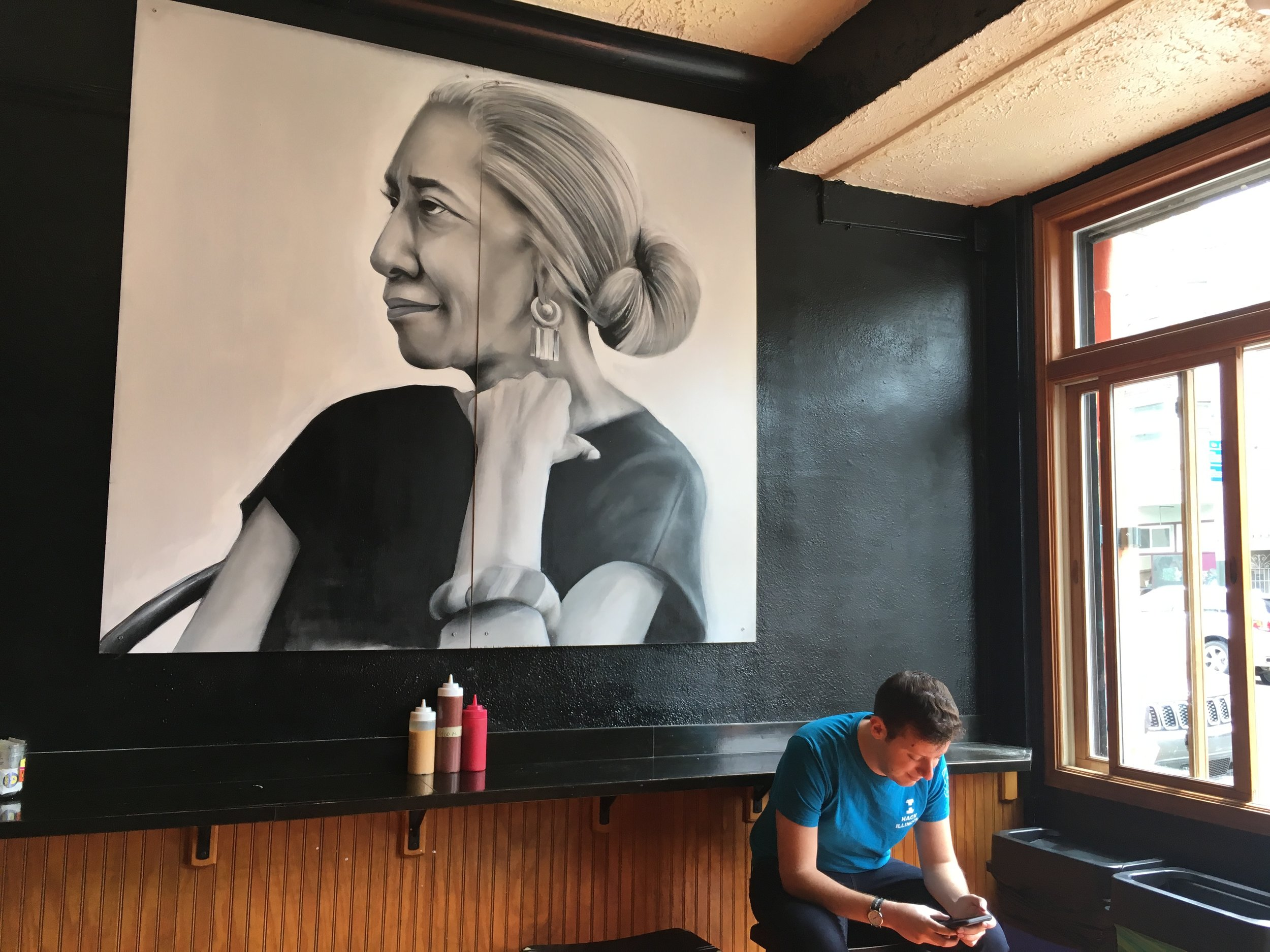 Portrait of Edna Lewis - Commissioned for Wing Wings on Haight, 2017