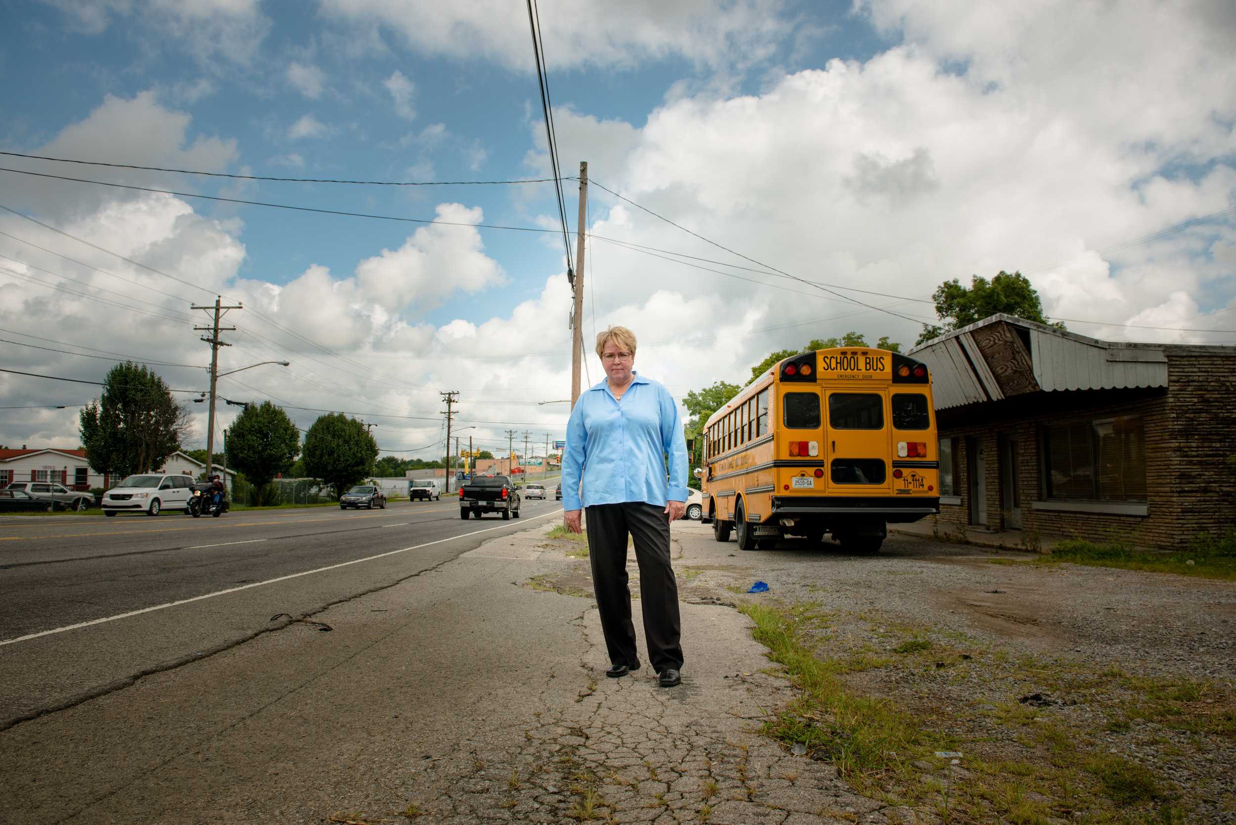 Councilmember Nancy VanReece in front of Star-Day King Studios on Dickerson Pike/ W. Due West Ave. Photo: Chad McClarnon