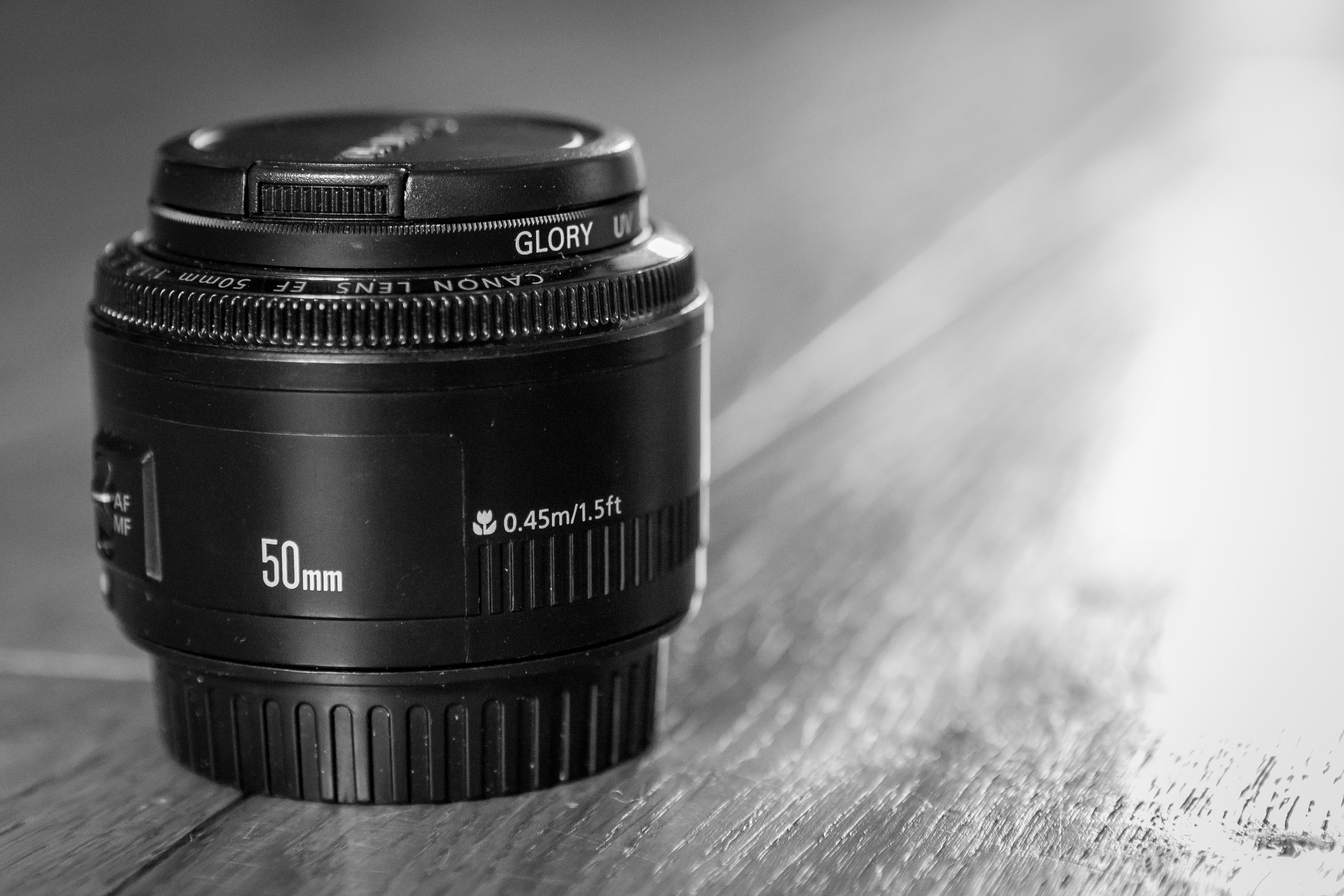 """Often referred to as the """"Nifty 50"""" - the 50mm 1.8 is a small and lightweight lens that can get let in lots of light when needed."""