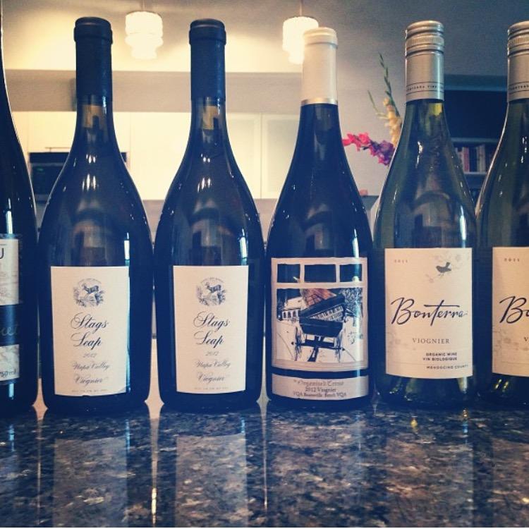 Bottles of Viognier Wine