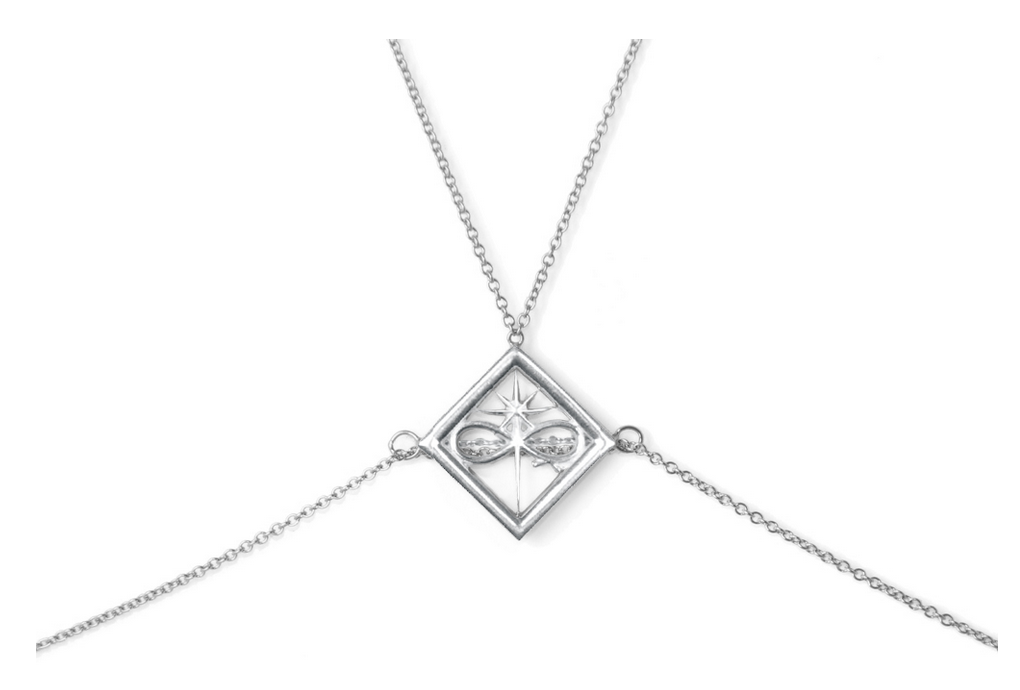 Ludevine Body Chain in Silver