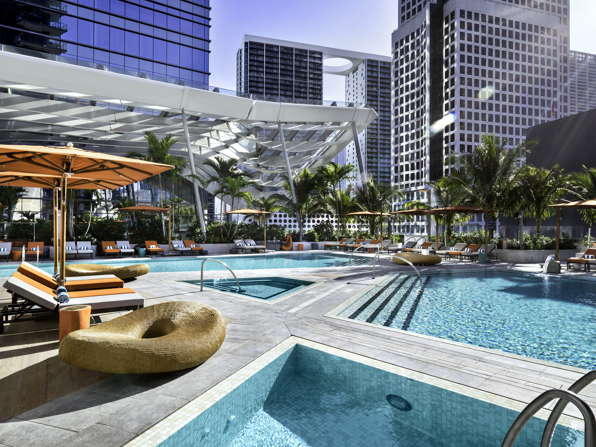 Swimming pool at EAST, Miami. Photo courtesy Swire Hotels.