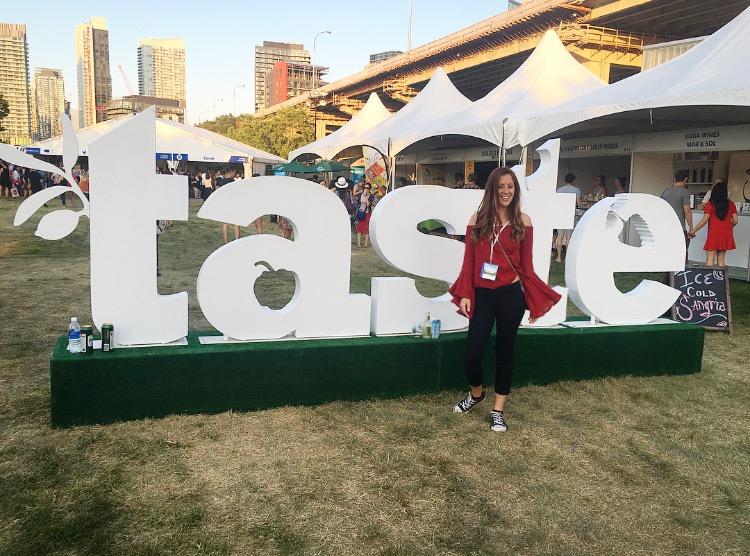 Me last year at Taste of Toronto!