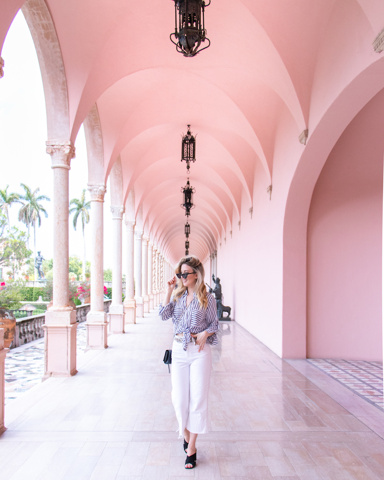 Pink Archways of the Museum Courtyard at the Ringling in Sarasota