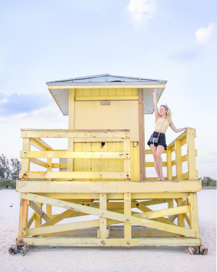 Lifeguard Station at Siesta Key Beach in Sarasota