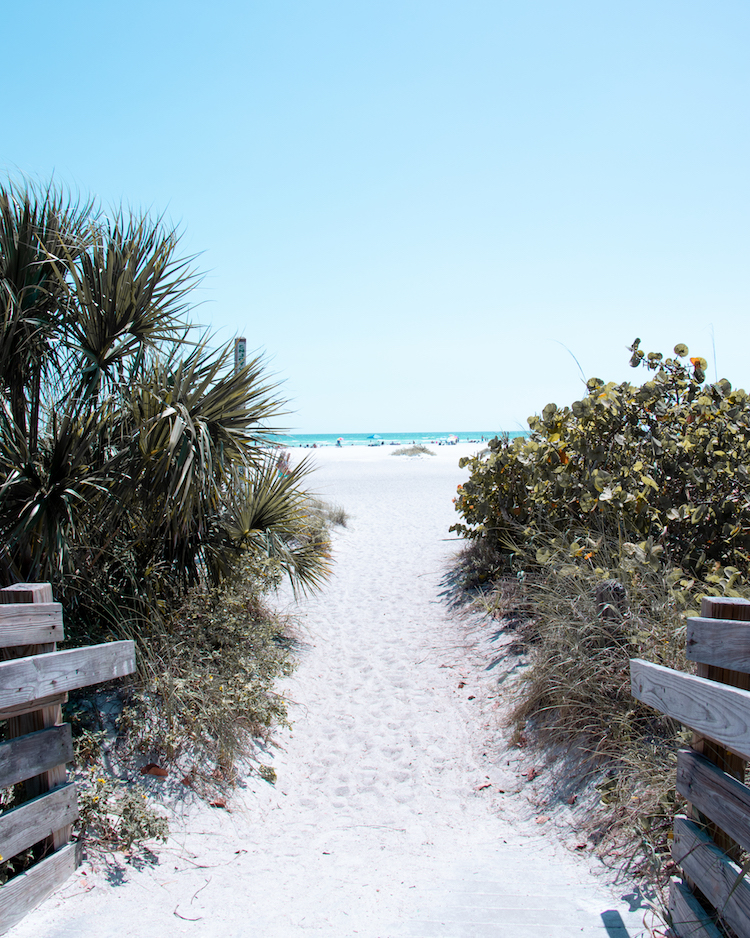 Pathway to Lido Beach in Sarasota