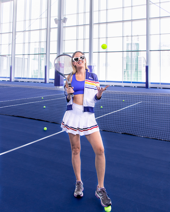 Ready for a tennis match at  Ten X Toronto  - Picture Credit  @SincerelyKn
