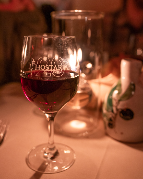 Enjoying and authentic Italian meal at L'Hostaria in Aspen, CO.