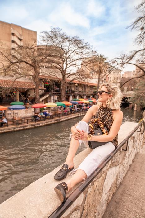 Hanging along the Riverwalk in San Antonio