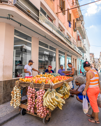Local Life - A fruit stand in Old Havana