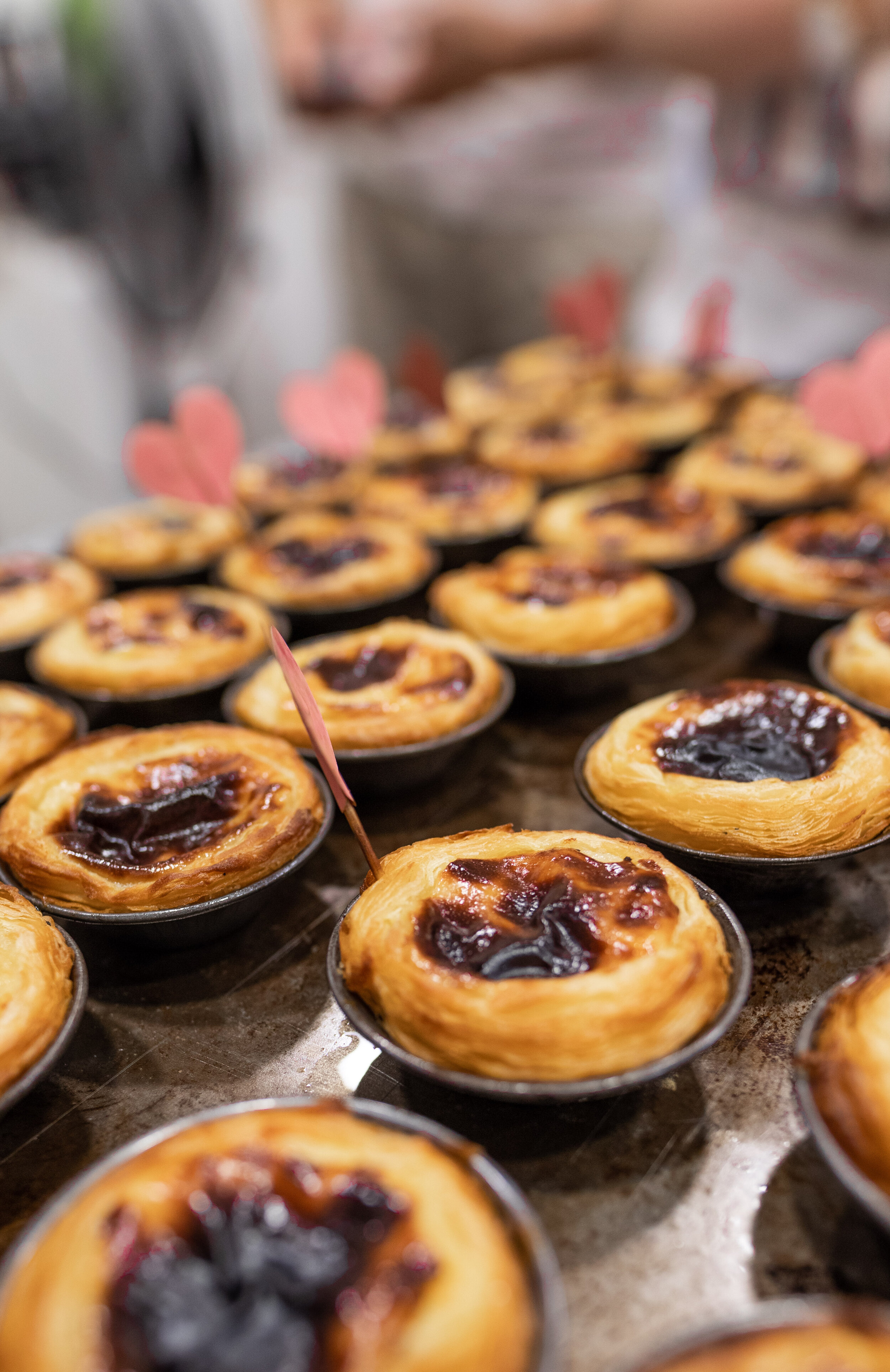 perfectly baked little pastel de nata