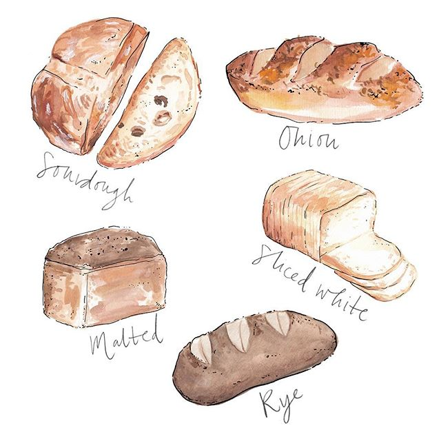 Daily bread ✨🥖 • • • #wedding #weddingplanning #events #eventplanner #bridal #partyplanning #eventdesign #ink #penandink #illustrator #illustration #artist #sketchbook #penandink #instaart #artwork #draw #instadraw #bread #foodillustration #bread #bakery #artoftheday #prints #onmydesk #artist #etsy #etsyshop #etsyseller #watercolour
