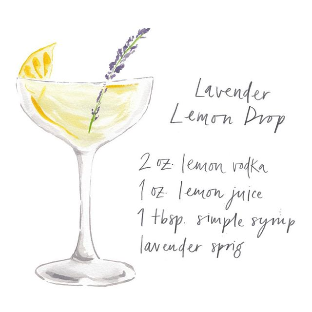 Lavender Lemon Drop 🍋🌿🍸 • • • • • • #wedding #weddingplanning #events #eventplanner #bridal #partyplanning #eventdesign #ink #penandink #illustrator #illustration #artist #sketchbook #penandink #instaart #artwork #draw #instadraw #bread #foodillustration #lime #cocktail #fresh #artoftheday #prints #onmydesk #artist #etsy #etsyshop #etsyseller #watercolour