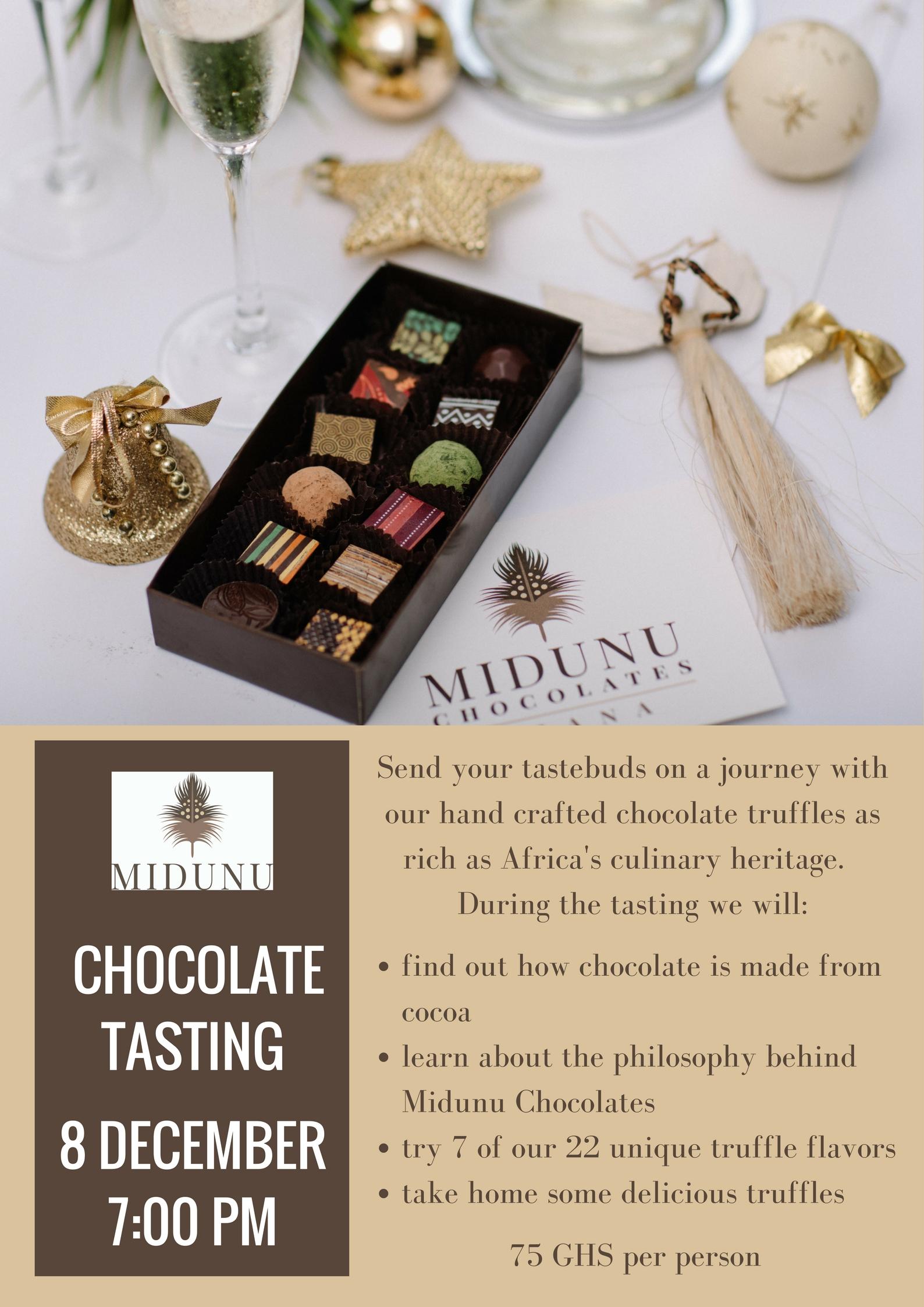 Chocolate tasting Dec 2017