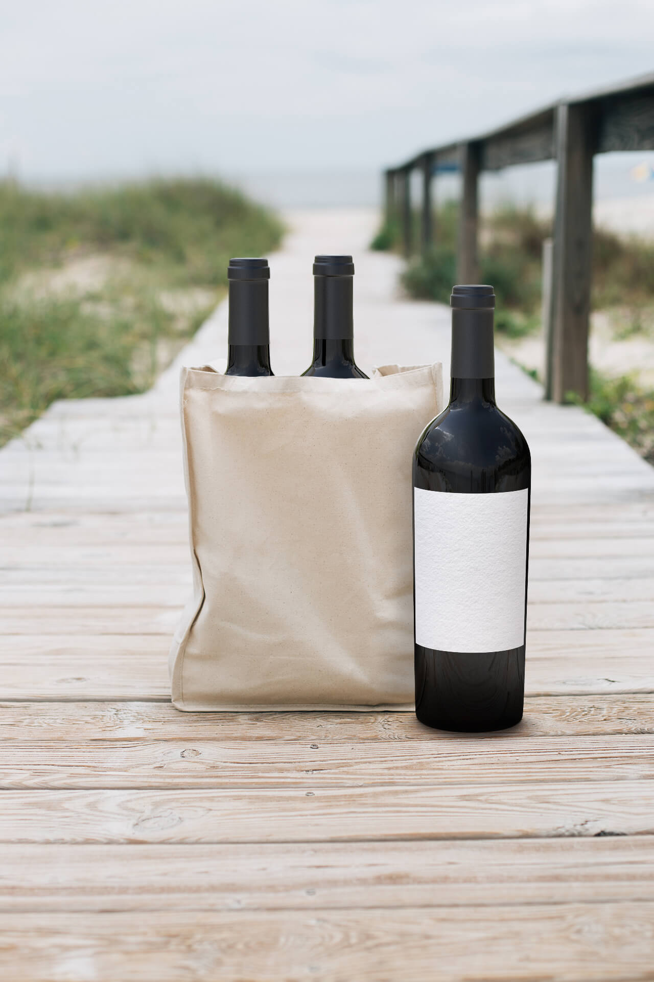Tote by the sea
