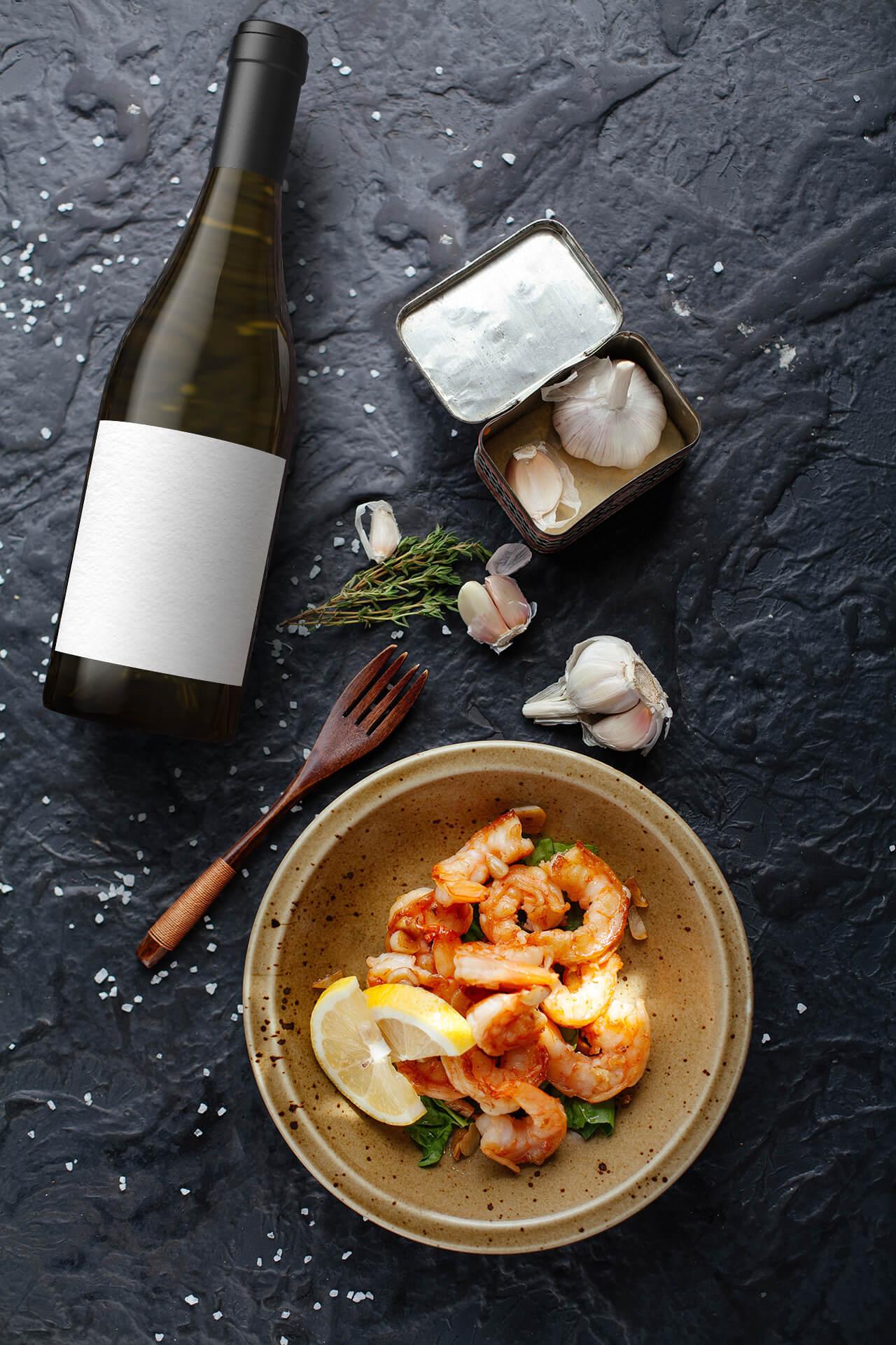 Delicate shrimps