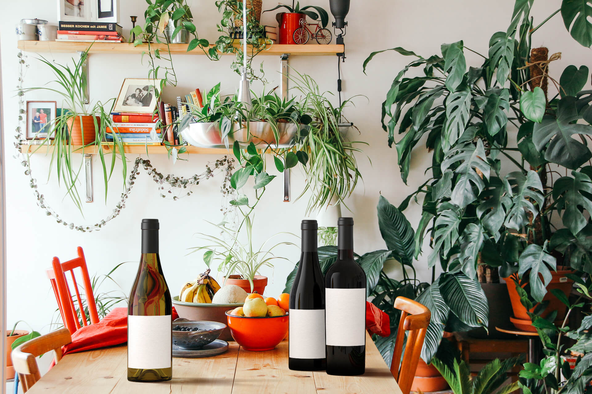 Leafy and bright kitchen