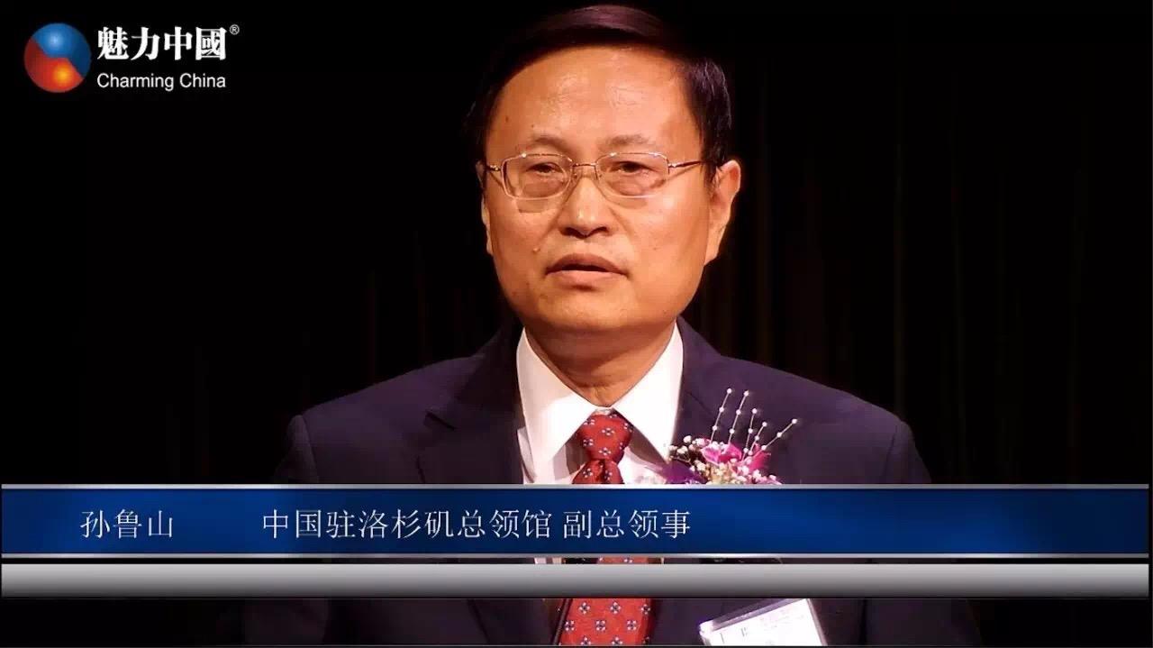 (中国驻洛杉矶总领事馆副总领事孙鲁山先生。主办方拍摄)