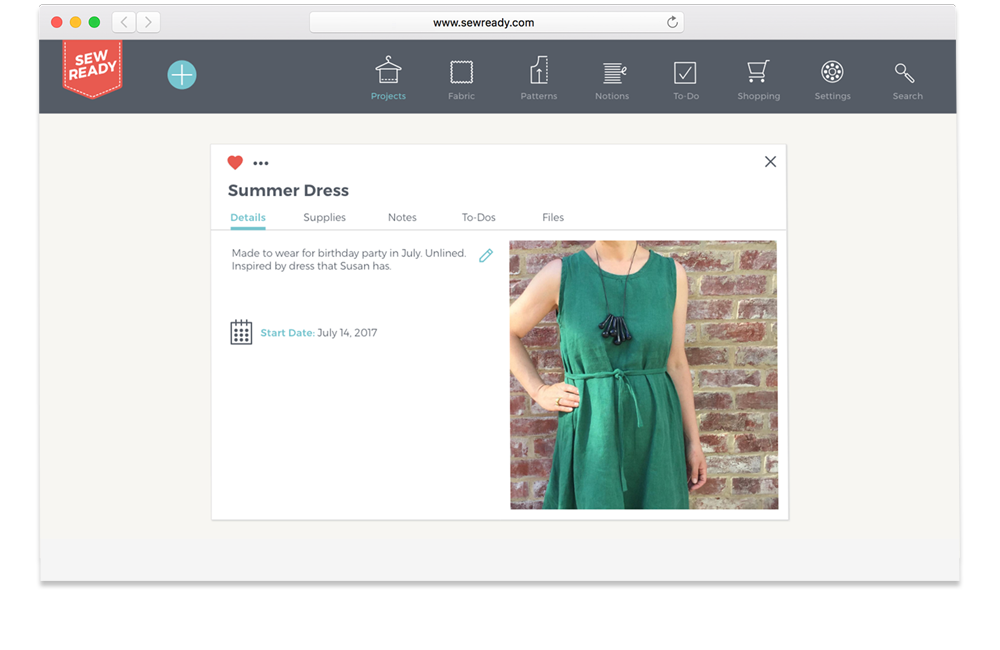 Sew ready - Envisioning a task management app for people who love to sew.