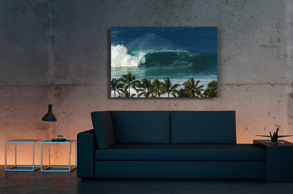 """Surflines """" Great Breaks """" gallery features some of Dane's work available as aluminum prints"""