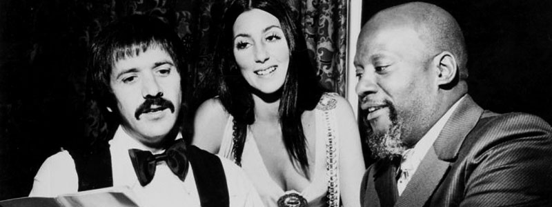 Sonny & Cher with Harold Battiste in 1970. Credit: The Historic New Orleans Collection.