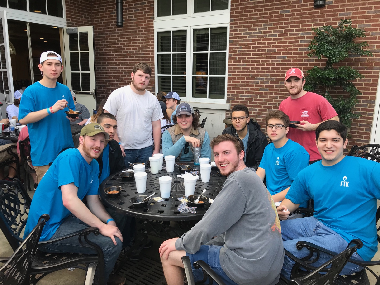 Brothers attending The annual ifc chilifest. we are proud to be co-sponsors of this event and be a part of the initiative to raise money for the  women and gender resource center  here on campus