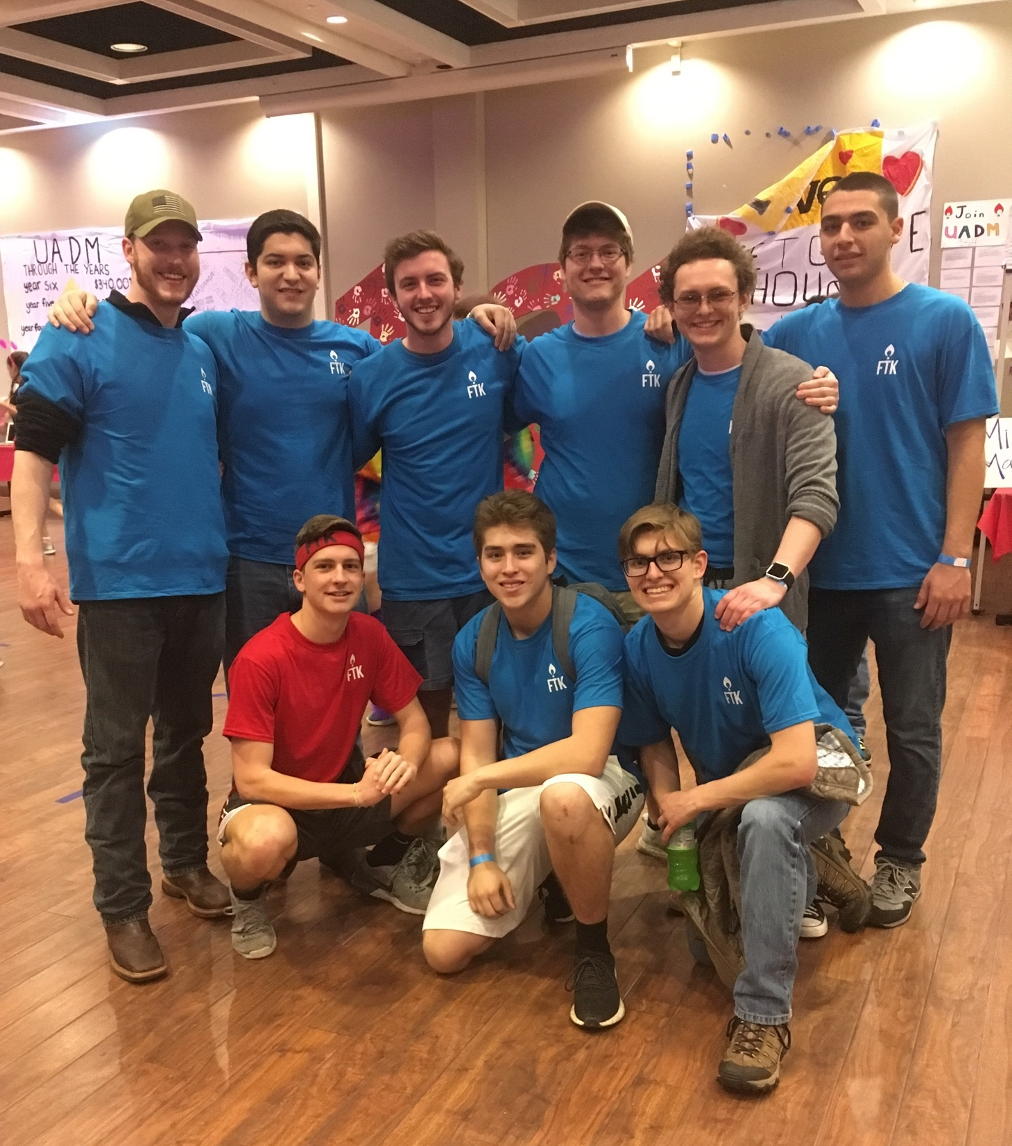 our  University of Alabama Dance MArathon  team. many brothers attended and participated but these brothers gave an extra effort by donating more and organizing our booth